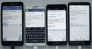 mail app, new mail, virtual keyboard