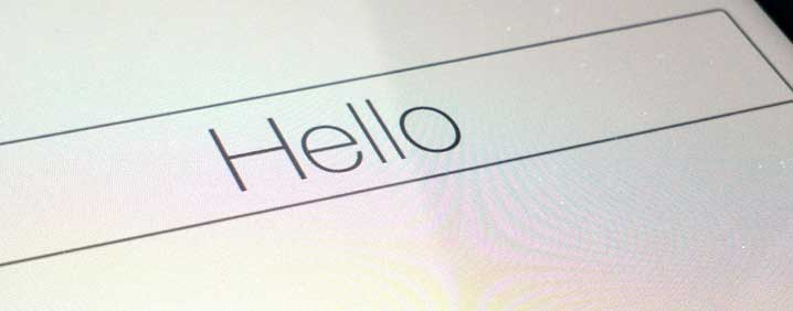 iPad mini installation - Hello (welcome screen)