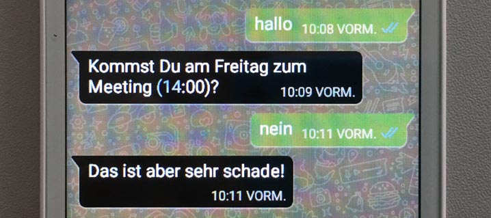 Whatsapp-Chat auf dem Blindshell